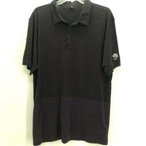 Travis Mathew Mens Polo Shirt Black Purple Sz XL